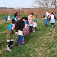子どもたちの麦踏体験