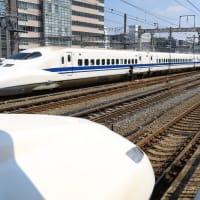 静岡駅発車700系「こだま636号」 (2019年8月 オマケは静岡市役所3階コミュニティスペース 茶木魚)