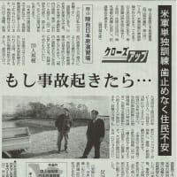 もし事故起きたら・・ 岡山・陸自日本原演習場/米軍単独訓練 歯止めなく住民不安・・・今日の赤旗記事