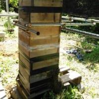 ミツバチ巣箱避暑化作戦