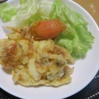 豚バラと大根の煮物、シーフードかき揚げ、いか人参、炊屋食堂の田舎menu~・・・家庭料理
