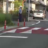 岡山県内初「スムーズ横断歩道」横断歩道盛り上げ段差で事故防止