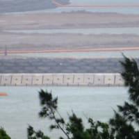 大浦湾と辺野古側埋め立て区域の様子
