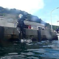 7月22日(木)PADIオープンウォーター講習4名!fun2名 真夏の『松江』の海を楽しんだよ!!水温25度まで上昇!!