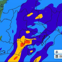 東関東 通勤・通学時に激しい雨?