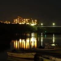 近くの入り江からの賢島夜景