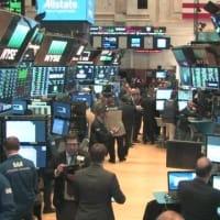 "【nhk news web】 1月28日 6時41分、""""NY株式市場 ダウ平均株価は大幅な値下がり"""""