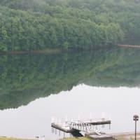 早朝 サホロ湖