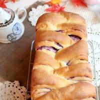 折り込み不要!紫芋の折り込み風食パン