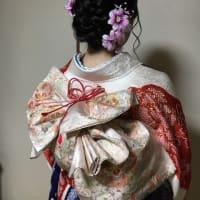 令和元年9月8日出張着付は大阪狭山市、留袖&振袖の着付け&ヘアメイクでした。