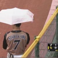 雨が降ってる熊本での試合で✩.*˚