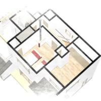 (仮称)葛城の家・ネーミングはもう少しアレンジを加えてからの予定ですが、間取りと外観と暮らし方の提案を色々と、土間とLDK、薪ストーブと星空風景デッキの暮らしをデザイン設計ですよ。