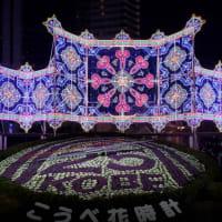 神戸ルミナリエ2019 フロントーネまではスムースな辿り着くけど東遊園地は大混雑