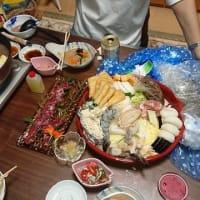何てラッキーな日かしら、最後に夕食持参で弟夫婦が来てくれました (#^.^#)✌