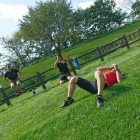 若手選手と2日間のトレーニングセッション