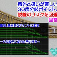 ◆鉄道模型、意外と扱いが難しい30度分岐ポイント、脱線のリスクを回避するには?回答例