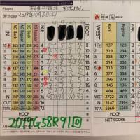 今日のゴルフ挑戦記(284)/東名厚木CC/イン(B)→ウエスト