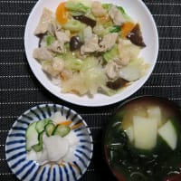 八宝菜、炊屋食堂の田舎中華menu・・・