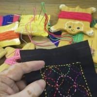小学校 放課後学習 成器塾「手芸コース:刺し子」の準備