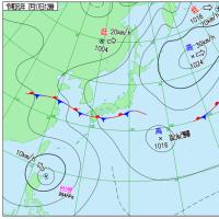 7月17日 アメダスと天気図。