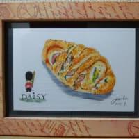 今月のパンの絵は、お惣菜系パン