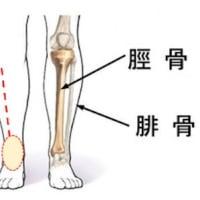 下腿の前がわ(胃経)が凝っている感じで足先が上げにくい:巨鍼で足が軽くなる