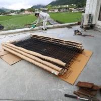 フェンス工事・レンガ積み完成しました。