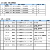 〔お知らせ〕JBA公認コーチ講習会・研修会 計画表(6月1日版)