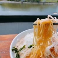千葉県いすみ市に今月オープンした新店、森田やは、店主のDIYによるもの‼️夷隅川のリバーサイドで食べるラーメン最高❣️