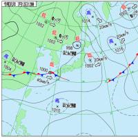 7月13日 アメダスと天気図。