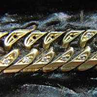 18金喜平ブレスレットにメレーダイヤモンドの石留め