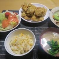 中華飯店炊屋の晩飯、質素倹約一汁三菜、簡単安く旨く・・・昭和の味、