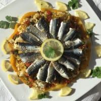 モロッコ風鰯のファルシー ケーキ仕立てにしてみました。