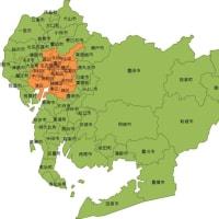 徒歩通勤2019(4) 日本一周徒歩 三重県終了し愛知県に到達