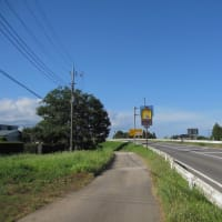 有料道路の気温計は33度(2019年8月10日千葉市緑区)と推計気象分布(気温)