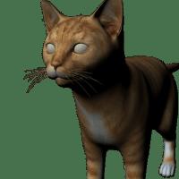 猫の3Dモデルの変換を作業中です