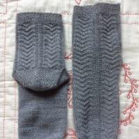 手編み靴下 作品NO.291