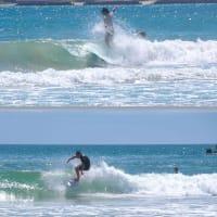 サーフィンを楽しむ