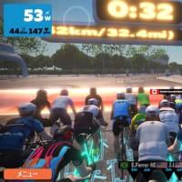 朝練 ZWIFTレース 【 3R  50km  LONDON-Greater  LONDON  Flat  Race  】 3位。