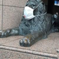 獅子もマスク