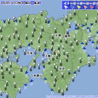 6月17日 アメダスと天気図。