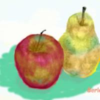 洋梨を描いて遊ぼう