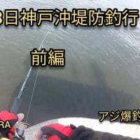 2020年4月28日 神戸沖堤防で魚釣り。神戸沖堤防に釣行に行って来ました。