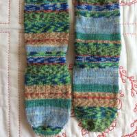 手編み靴下 作品NO.295