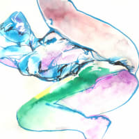 Nude-Muse-angel-Tableau-ヌード-芸術-アート-絵画:霜始降
