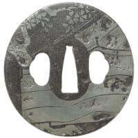 桜図鐔 正栄 Masataka Tsuba