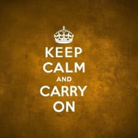 Calm and Carry On!