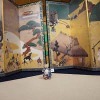 7月14,15日に開催された「伝匠美 京あそび 屏風祭り展」。すぐ近くで見れる国宝の屏風