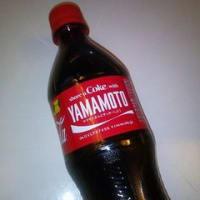 コカ・コーラのYAMAMOTO見つけました!