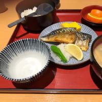 塩さばと具だくさんの味噌汁定食!